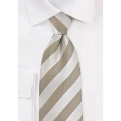 Soft Gold Striped Tie