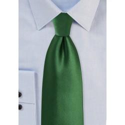 Forest Green XL Length Necktie