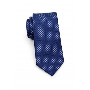 Royal Blue Necktie with Woven Micro Dots