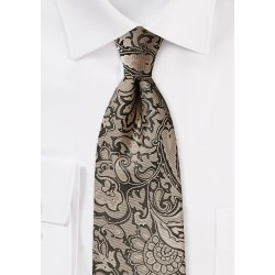Golden Bronze Extra Long Necktie