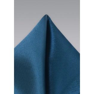 Dark Teal Colored Pocket Square