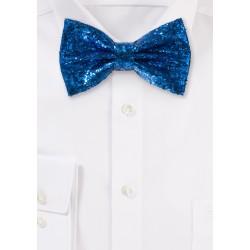 Glitter Bow Tie in Royal Blue metallic blue mens bowties