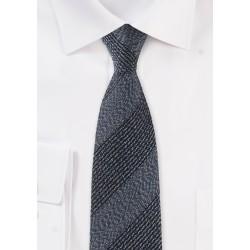 Textured Slim Cut Tie in Denim Blue