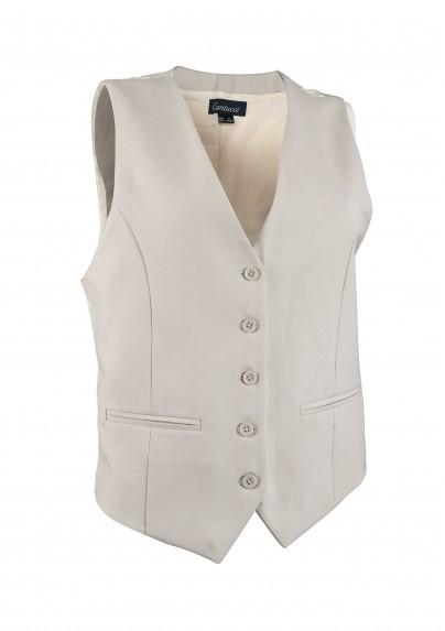 Tan Cream Textured Women's Vest