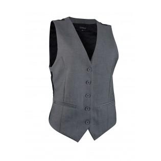 Womens Suit Vest in Medium Gray