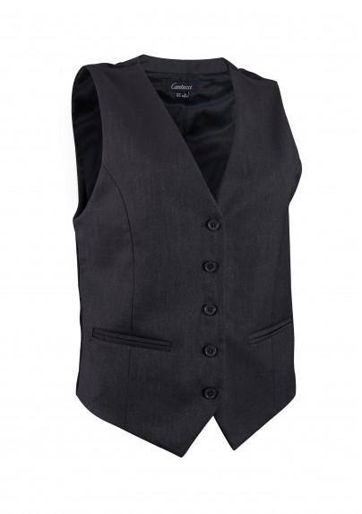 Women's Uniform Vest in Charcoal Gray