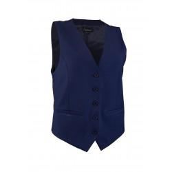 Women's Uniform Suit Vest in Midnight Blue