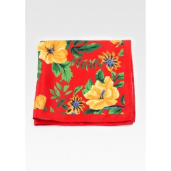 Hawaii Print Inspired Suit Pocket Square