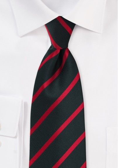 Black and Red Repp Tie for Kids
