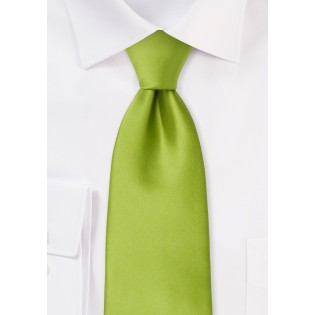 Solid color ties - Bright green necktie