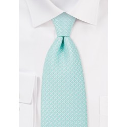 Light Cyan Blue Tie in XL Length