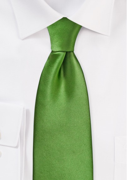 Clover Green Tie in XL Length