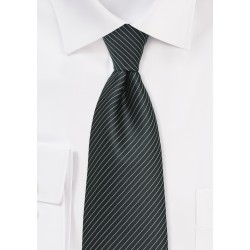 Pencil Stripe Tie in XL Length