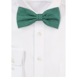Kelly Green Micro Dot Cotton Bow Tie