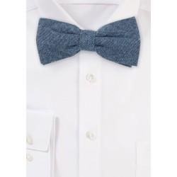 Denim Blue Designer Bow Tie