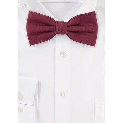 Wine Red Cotton Bow Tie