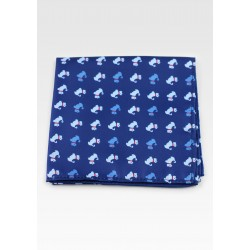 Blue Pocket Square with Terriers