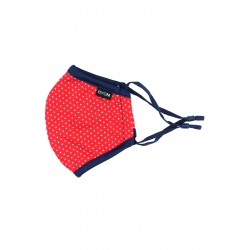 Cherry Red Polka Dot Print Kids Mask