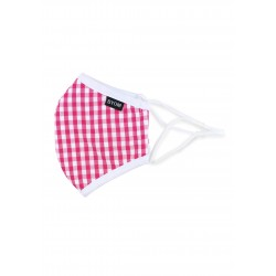 Pink Gingham Check Kids Face Mask