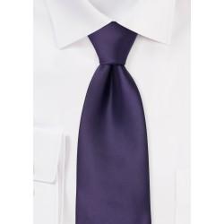 Deep Purple Mens Clip on Tie