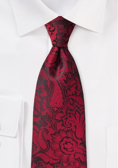 Chili Red Paisley Tie