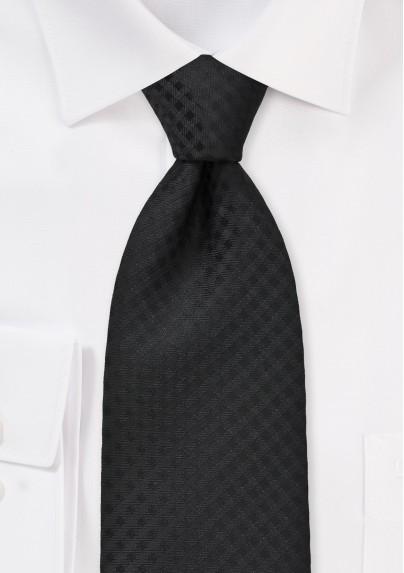 Monochromatic Black Tie