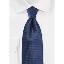 Solid Color Tie in Estate Blue