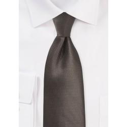 Textured Necktie in Chestnut Brown