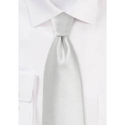 XL Necktie in Solid Ivory