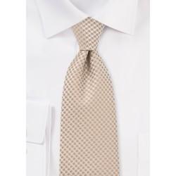 Patterned Tie in Golden Wheat