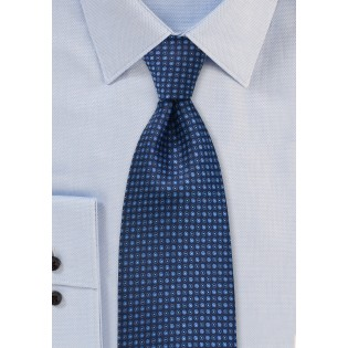 Dotted Tie in Tonal Blues
