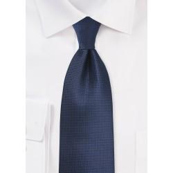 Textured Tie in Dark Navy