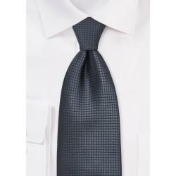 Dark Gray Silk Tie Made for Big & Tall Men