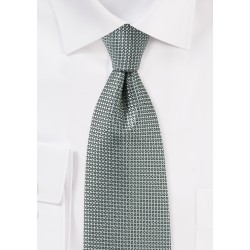 Textured Tie in Gray