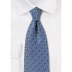 Grayish Blue Designer Necktie