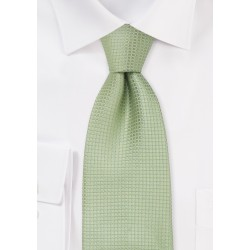 Silk neckties -  Light green designer silk tie