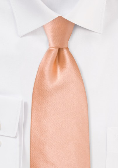Solid Silk Tie in Coral Peach