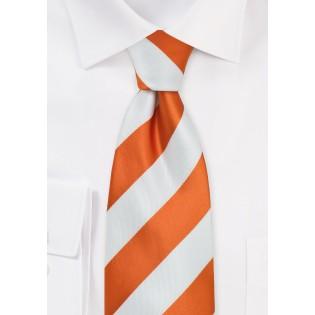 Bright Orange and White Necktie