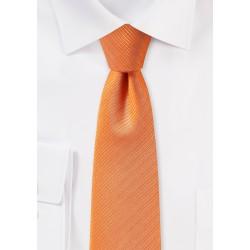 Slim Cut Mens Tie in Orange
