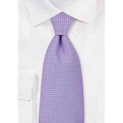 Light Lavender Textured Tie in XL