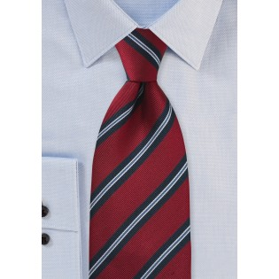 Regimental Tie in Red and Navy Blue