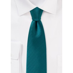 Light Teal Blue Skinny Tie