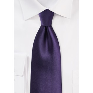 Solid XL Length Tie in Majesty Purple