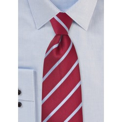 Red and Grey Striped Tie