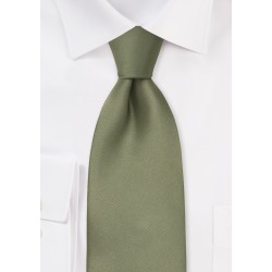 Dark Sage Green Silk Necktie