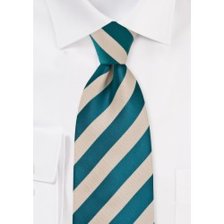 Warm Riviera Blue and Champagne Tie