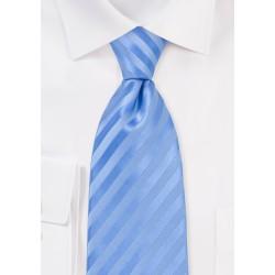 Tonal Light Blue Striped Tie in XXL Length
