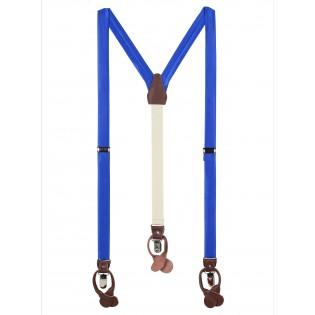 Marine Blue Fabric Suspenders