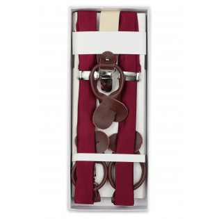 Mens Suspenders in Classic Burgundy