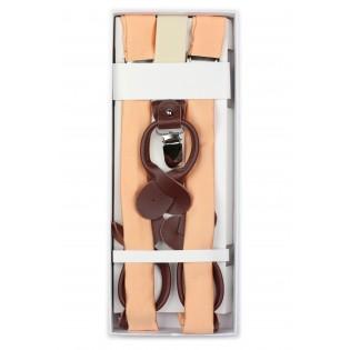 Peach Orange Mens Suspenders in Box